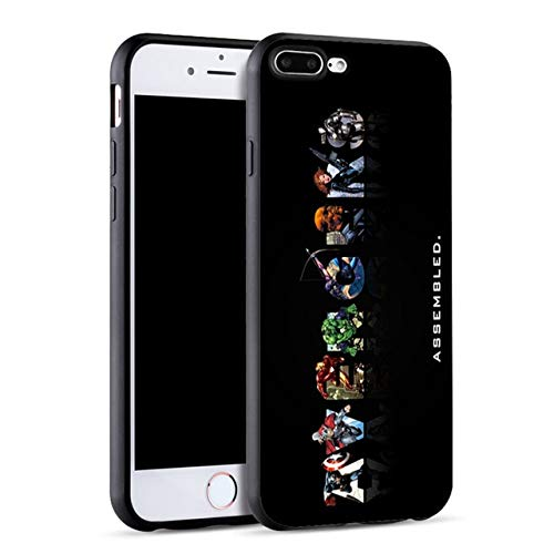 Marvel Avengers Case for iPhone 7 Case Iron Man Captain America Silicone Cover Phone Cases for iPhone 6 6S 5S XR XS Max 8 Plus X - (Color: SJK2074008HB, Material: for 6Plus 6Splus) ()