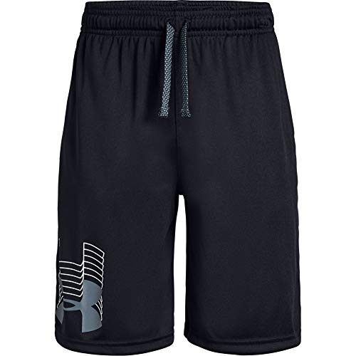 Under Armour boys Prototype Logo Shorts, Black (003)/Pitch Gray, Youth X-Large (Best Sports For Boys)