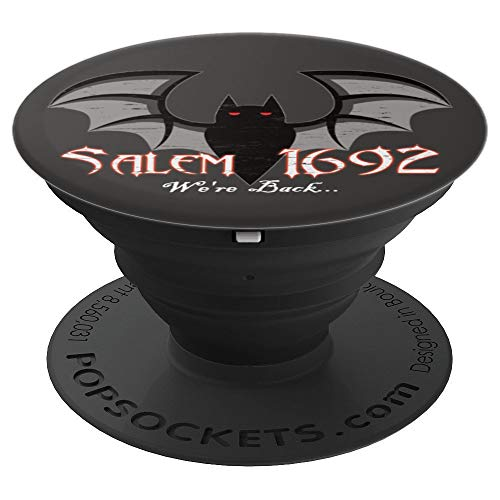 Salem, MA 1692 Witch Trials We're Back Bat Gift - PopSockets Grip and Stand for Phones and -
