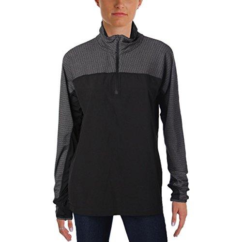MPG Men's Detail Pique Pullover S Black Jacquard