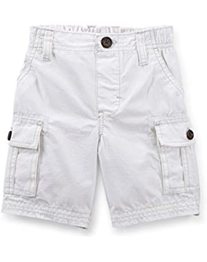 Carter's Baby Boys' Ripstop Cargo Shorts - White - 3 Months