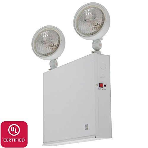 LFI Lights - UL Certified - Hardwired NYC Emergency Light - Steel 2 Head 54W New York City - ELST54W2H