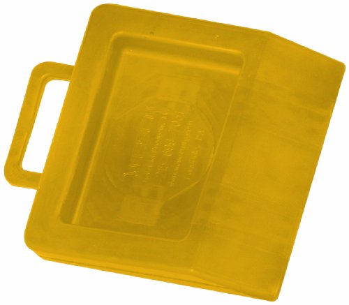 """Wesco 272175 Hard Rubber High Visibility Pallet Truck Chock, 11-3/4"""" Width x 2"""" Height x 14"""" Depth, Yellow"""