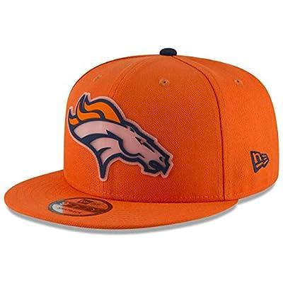 New Era NFL Denver Broncos 9FIFTY Team Clear Snapback Cap, Orange Adjustable Hat