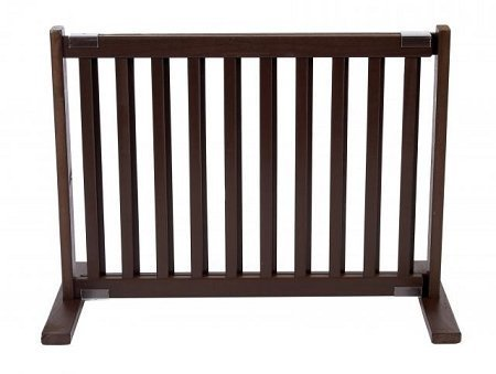 Dynamic Accents Indoor Free Standing Pet Gate / Safety Barrier - Small / Mahogany by Dynamic Accents