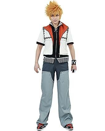 Miccostumes Men's Kingdom Hearts Roxas Cosplay Costume Small Grey and White