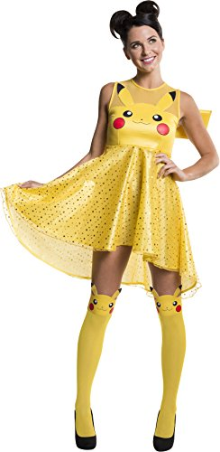 Pikachu In A Dress (Rubie's Costume Co Women's Pokemon Pikachu Costume Dress, Yellow,)