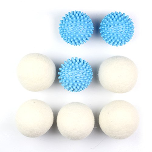 Gainwell Wool Dryer Ball And Plastic Washing Ball Set For The Whole Clothes Cleaning Procedure