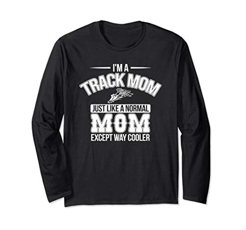 (Cute Track and Field Mom Cross Country Runner Mama Sprinter Long Sleeve T-Shirt)