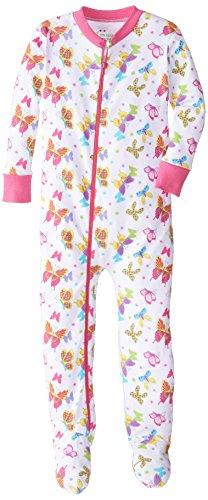 New Jammies Little Girls Holiday Organic Cotton Footie Pajamas