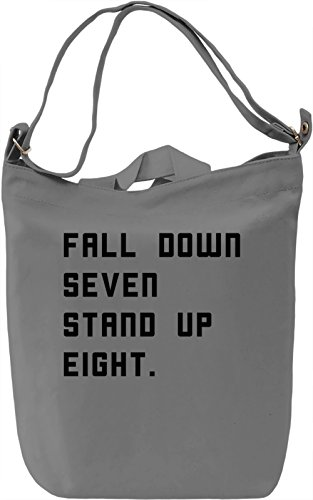 Stand Up Borsa Giornaliera Canvas Canvas Day Bag| 100% Premium Cotton Canvas| DTG Printing|