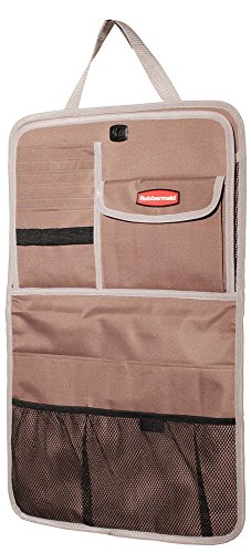 Rubbermaid 3326-00 Automotive Back Seat Organizer/Hanging Car Caddy with Folding Tray Table, Tan