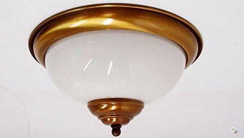 Plafonniere Messing Glas : Deckenlampe messing gebürstet glas cm plafoniere milchglas
