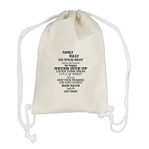Choose Wisely Keep Your Promises Use Kin Cotton Canvas Backpack Drawstring Bag