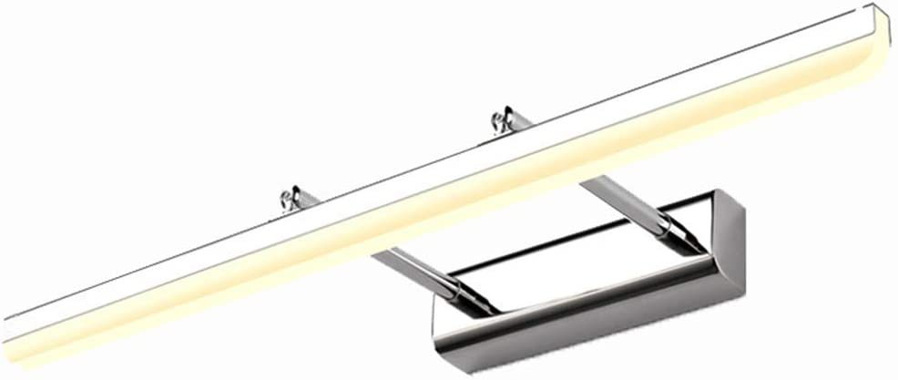 HSLXD.FGBD LED Spiegelleuchten Badezimmerspiegellampe Acryl Schminktisch Make-Up Lampe Nebel Verhindern Spiegel Scheinwerferdekoration Spiegelschrankleuchte,Black warm Light,60CM