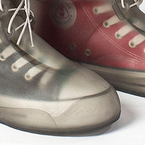 XHYRB 防水靴カバー、防水雨の季節アウトドア旅行靴カバー、男性と女性ノンスリップ太いウェアラブルスタイル、ブルー、ピンク、ホワイト 防水靴、防雨カバー、長靴 (Color : Pink, Size : XXL)