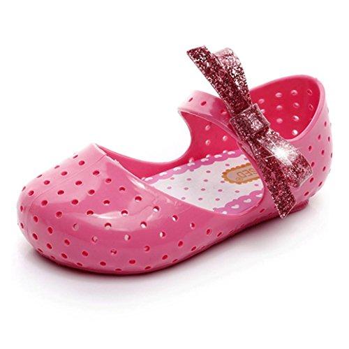 AMA (TM) Kleinkind Mädchen Hohl Sandalen Prinzessin Bogen Weiche Krippe Schuhe Prewalker Pink
