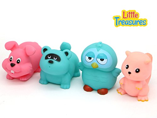 Little Treasures Woodland Floating Bath Toys for Babies Bathtub Fun Playing Toys (Baby Tub Owl)