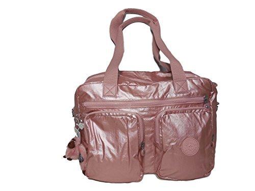 Kipling SASHA Travel Tote Bag - Icy Rose Metallic, 15.75'' x 11.25'' x 8.25''
