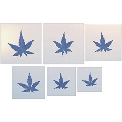 Japanese Maple Leaves Stencil - The Artful Stencil