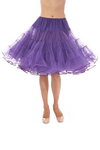 Malco Modes Madeline Style 565, Luxury Vintage Adult Petticoat Skirt Pettiskirt for Rockabilly 50s (Medium, Purple)