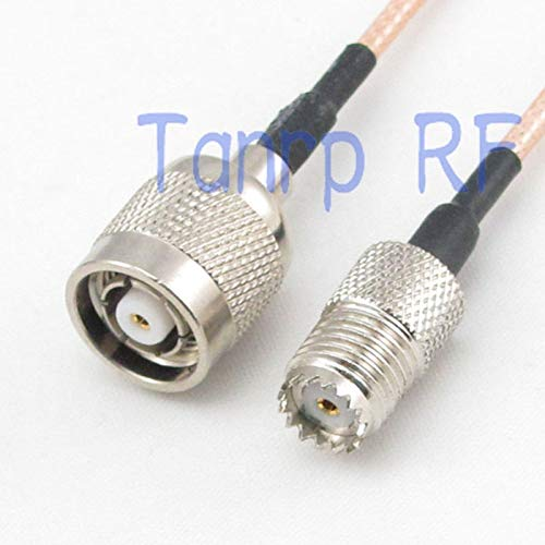 (Gimax 10PCS 15CM Pigtail coaxial jumper cable RG316 extension 6inch MINI UHF female jack to RP TNC male plug RF adapter connector)