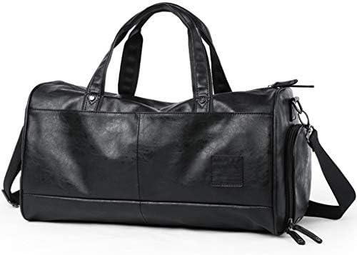 ポータブルマルチファンクションメンズゴルフ衣料品収納袋多目的スポーツとフィットネス荷物バッグ大容量設計の独立した靴ポジションBlcak HMMSP