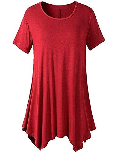 Baggy Tshirt Monocromo Top Stile Accogliente T Shirt Giovane Magliette Moda Irregular Donna Eleganti Modern Corta Collo Shirt Rotondo Moda Manica Casual Estivi Shirt wpFxOqIIP6