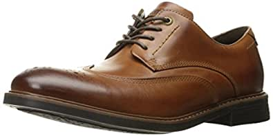 Rockport Men's CB Wing Tip Oxford- Dark Brown Leather-7 W