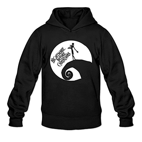 [DVPHQ Men's Best The Movie Poster Girl In Moon Hoodie Size L Black] (Boogie Man Nightmare Before Christmas Costumes)