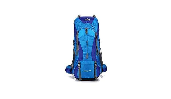 Olprkgdg Senderismo Mochila de Viaje Mochila de Viaje Bolsa Impermeable para Escalada Camping Alpinismo (Color : Blue): Amazon.es: Hogar