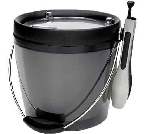 OXO 1147000 G251700812 Plastic Bucket with Ice Tongs, 1/2 in in, Gray (Oxo Good Grips Ice Bucket With Tongs)