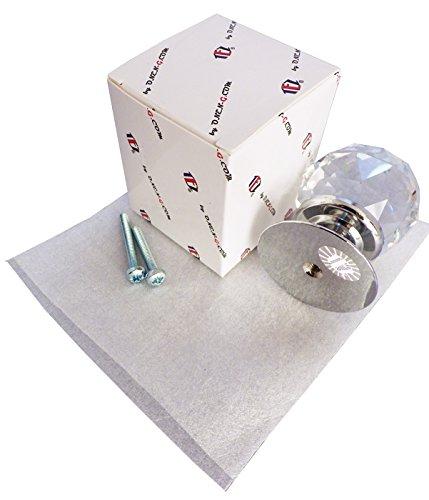 /Verkauft als 6/ 6/x Ovo/® TEZ/® 30/mm transparent Facet Ball Kristall Noppen Griffen/ /30/mm Kristall dia/ /Chrom gl/änzend Boden/ /Klar Facet Ball Kristall Glas/