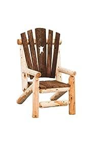 Two 2 Cedar Log and Reclaimed Barn Wood Grandpa's Chairs - Cedar Stain