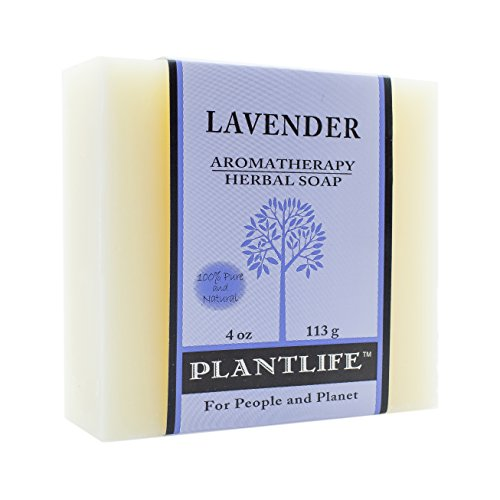 PLANTLIFE Lavender Aromatherapy Soap Bar, 4 Ounce