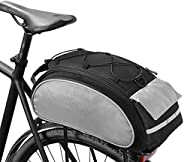 ROSWHEEL Cycling Bag Bicycle Basket, Mountain Bike Pannier Downhill Rack Trunk Shoulder Handbag Bicycle Backpa