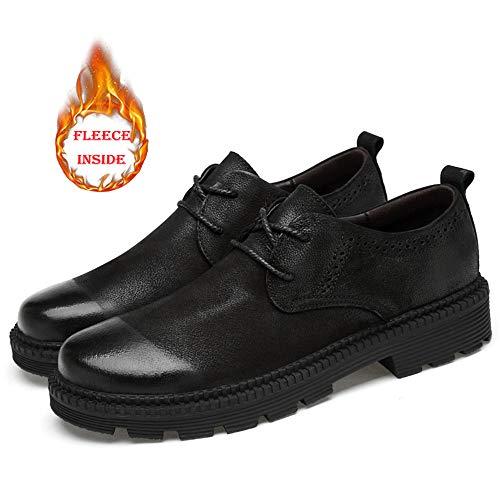in Scarpe Black casa vivere optional Soft 2018 Uomo Formal convenzionale Pelle Warm Classic e Top Low camminare Fashion Men's Warm Shoes Per compagnia Outdoor Cotton e w1q4UTx