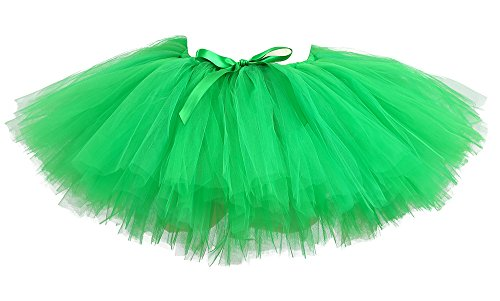 Tutu Dreams Lime Green Fairy Tutu Skirts Women St Patrick's Day Costume Adult Running Tutus Holiday(Free Size, Lime Green) -