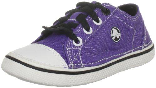 Girls Eden Shoes In Black (Crocs Hover Metallic Lace-Up Sneaker (Toddler/Little Kid/Big Kid),Ultraviolet/Black,9 M US Toddler)