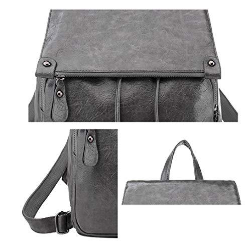 Grigio A Restbuy Multifunzione Zainetto Spalla Borse Backpack Zaino Casual Lavoro Daypack Viaggio Donna Fxrx7t