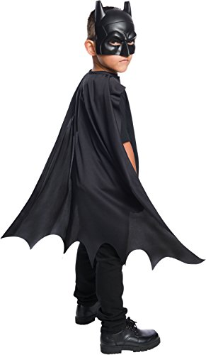 Rubie's Costume Boys DC Comics Batman Cape & Mask Set Costume, One Size ()