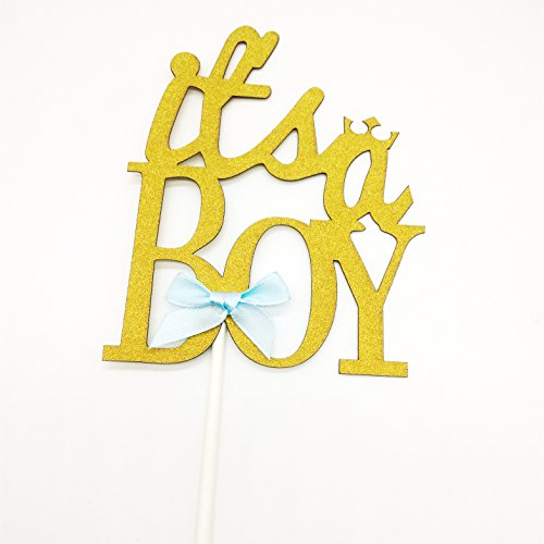 Hemarty 2pc Its A Boy Cupcake Cake Toppers Cake Flags Kids Birthday Party Baby Shower Baking Creative Decorations