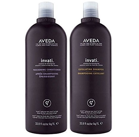 Aveda Invati Exfoliating Shampoo 33.8 oz & Thickening Conditioner 33.8 oz DUO by Aveda