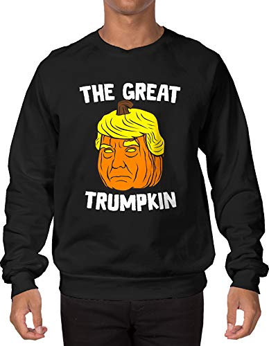 The Great Trumpkin Adult Crewneck Sweatshirt (Black, Large) - Blk Wall Lantern