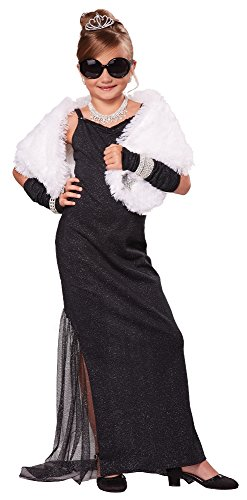 [California Costumes Hollywood Diva Costume, One Color, 6-8] (Halloween Costumes For Girl Kids)