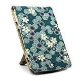 JAVOedge Cherry Blossom Flip Case for Amazon Kindle Keyboard 3G / WiFi (Ocean Blue) - Current Generation