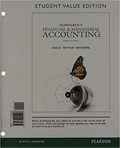 Horngrens financial managerial accounting student value edition horngrens financial managerial accounting student value edition and new myaccountinglab with pearson etext access card package 4th edition tracie fandeluxe Gallery
