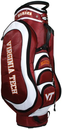 (Team Golf NCAA Virginia Cavaliers Medalist Golf Cart Bag, 14-way Top with Integrated Handle & External Putter Well, 5 Zippered Pockets, Padded Strap, Umbrella Holder & Removable Rain Hood)