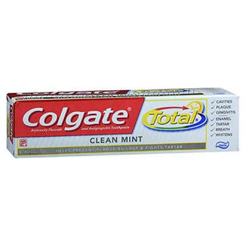 Colgate Total Anticavity Fluoride and Antigingivitis Toothpaste, Clean Mint 6 ounces (Pack of 3) ()