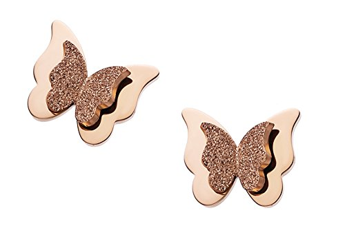 WDSHOW 18k Rose Gold Butterfly
